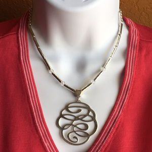Brighton Silver Scroll/Pounded Necklace